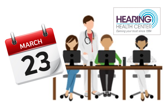 Hearing Health Center is taking a training day on March 23